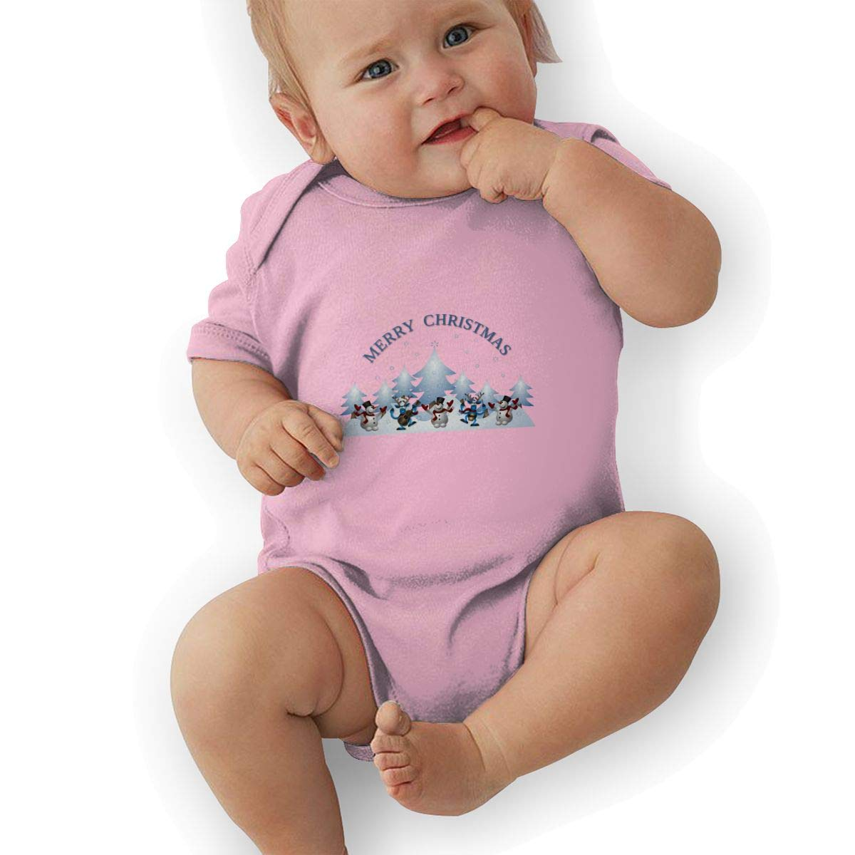 Toddler Baby Boys Bodysuit Short-Sleeve Onesie Merry Christmas Print Outfit Autumn Pajamas