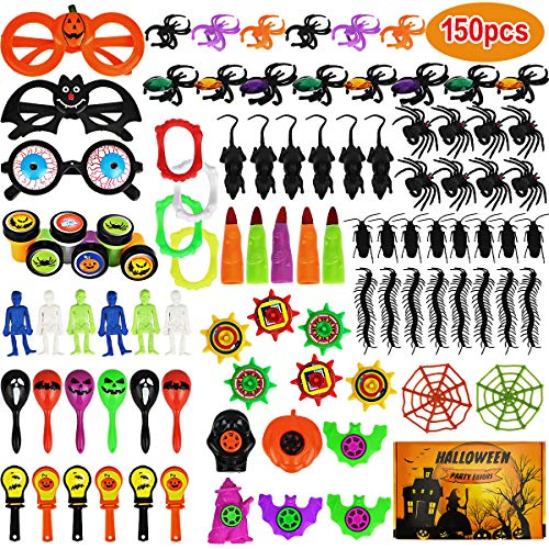 Aitbay 150PCS Halloween Party Favors Bulk for Kids, Favors Toy Assortment for Carnival Prizes, Trick or Treat, Halloween Party and Classroom ()