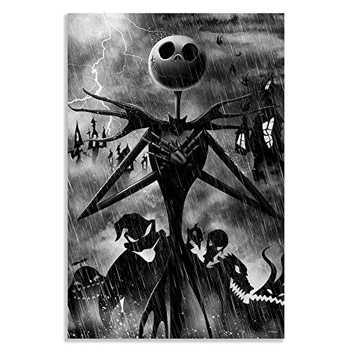 Silver Buffalo NB114017Z Disney Nightmare Before Christmas Jack Storm Laser Canvas Wall Art, 16 x 24 inches