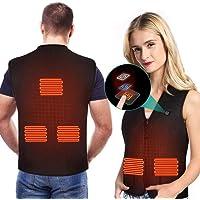 Chaleco TéRmico EléCtrico para Mujeres y Hombres, Chaleco Corporal CáLido con 3 Temperaturas para Actividades FríAs al…