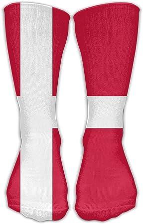 WEEDKEYCAT Calcetines altos para hombre y mujer, diseño de bandera de Dinamarca, algodón y algodón, para yoga, senderismo, ciclismo, correr, fútbol y deportes: Amazon.es: Hogar