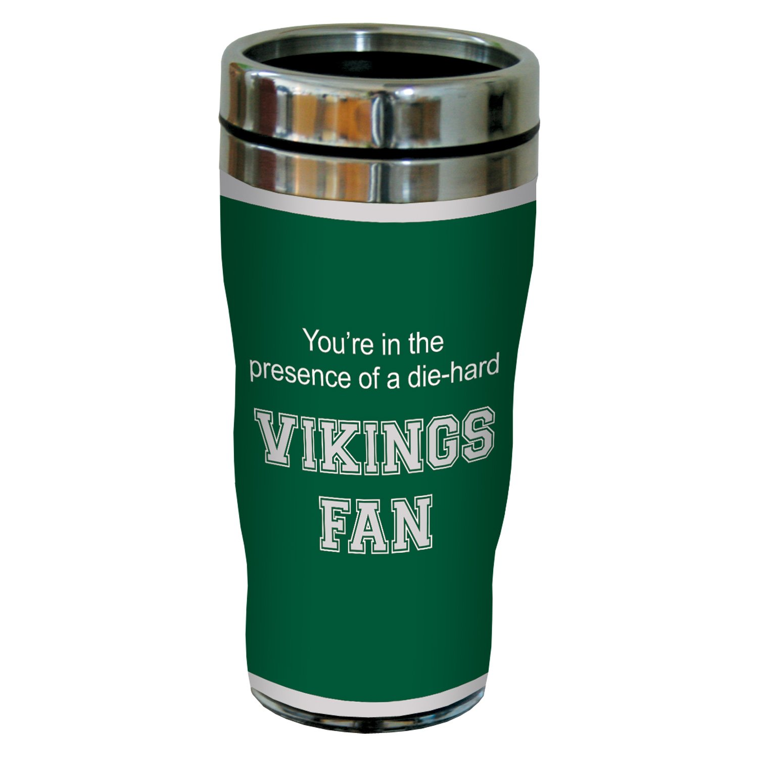 Tree-Free Greetings sg24848 Vikings College Basketball Sip N Go Stainless Steel Lined Travel Tumbler 16 Ounce