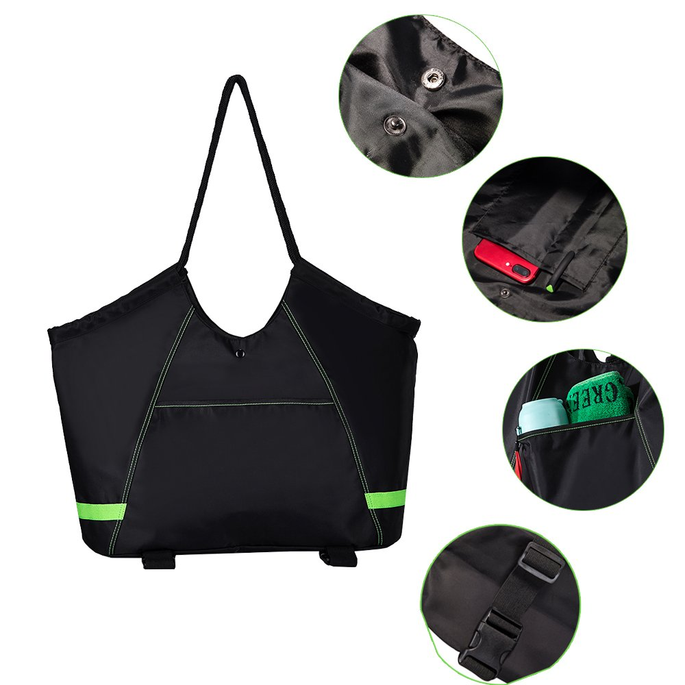 COVAX Yoga Mat Bag, Exercise Yoga Mat Carrier, Large Women/Men Tote Bag with 2 Extra Pockets for Yoga Towel, Yoga Mat Spray - Best Bags for Gym, Yoga, ...