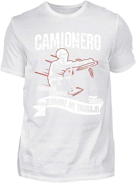 Shirtee Camionero - termine mi Trabajo - Camisa de Hombre