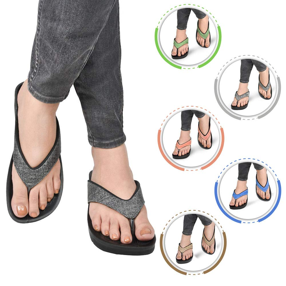 AEROTHOTIC Original Orthotic Comfort Thong Style Flip Flops Sandals for Women with Arch Support for