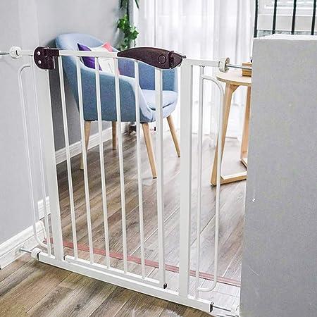 Ancho de la Puerta de Seguridad para niños 82-90cm Puerta de la Cerca de Seguridad para escaleras sin perforación Función de Cierre automático (Blanco) (Tamaño : Wall mounting Method): Amazon.es: Hogar