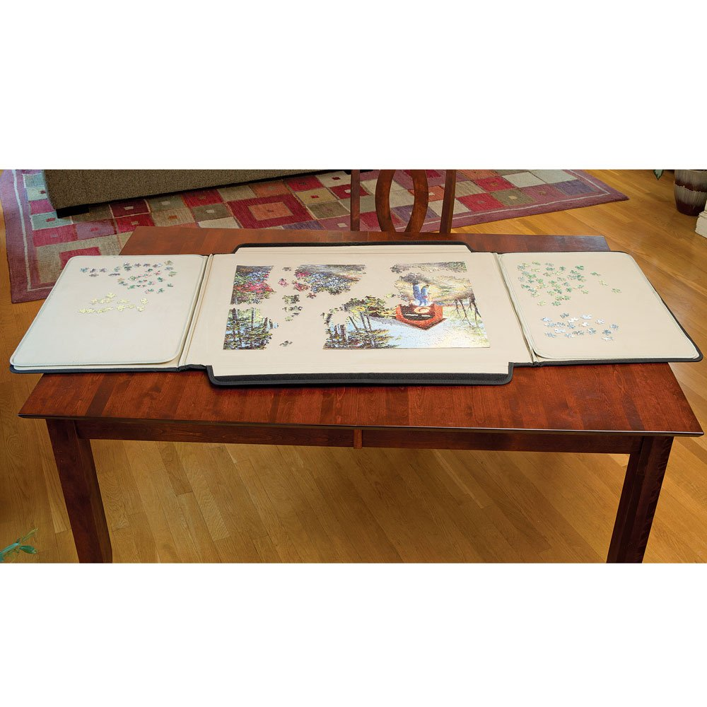 1500 Piece Puzzle Caddy-Porta-Puzzle Jigsaw Caddy To large to fit on your lap, excellent if you have a table.
