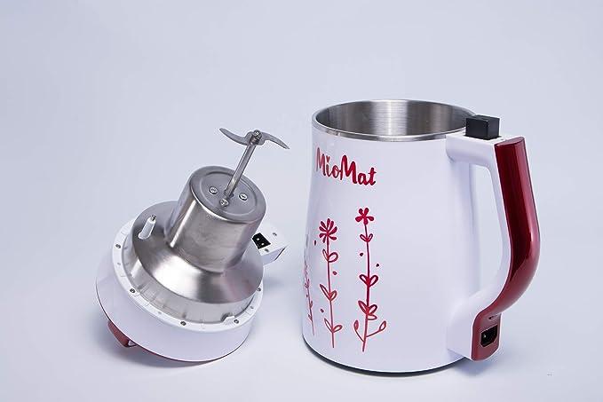 Amazon.com: Máquina para leche vegetal, leche de arroz, leche de almendra, leche de avena, sopas de legumbres, batidos y porridges MioMat, con capacidad de ...