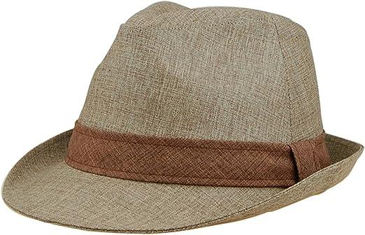 Natural Fedora Trilby Stylish HatBand Dandy Fedora Hat Big Size J2R JRJ012 Beige