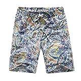 Sunyastor Mens Shorts Swim Trunks Quick Dry Summer Patchwork Beach Watershort Surfing Running Swimming Loose Short Pants