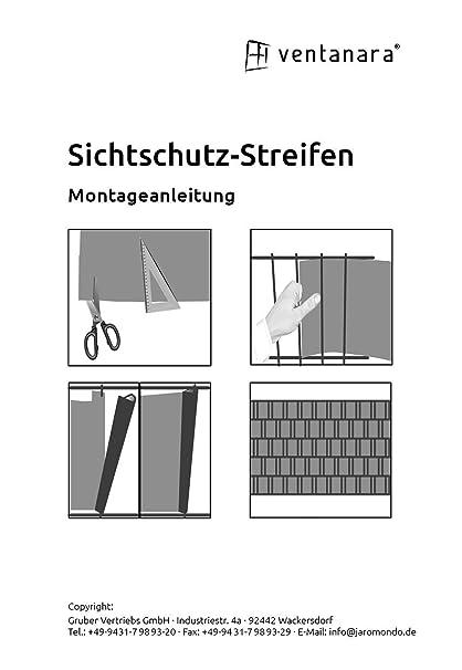 Ventanara Sichtschutzstreifen Rattan 19cm X 25m Inkl 25