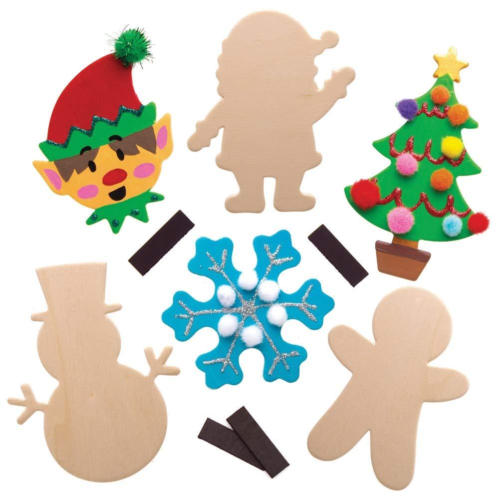 Baker Ross Bolas de Navidad de madera (Pack de 10) - Artes y ...