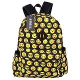 Tibes School Backpack Student Canvas Emoji Backpack Cute Bags kids Backpack