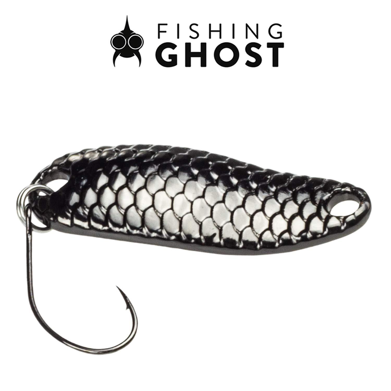 FISHINGGHOST/® Shiny Ensemble de cuill/ères /à la Truite Poids 3,5 g Clignotants de Truite pour la p/êche /à la Truite Taille 3,2cm leurres /à la Truite