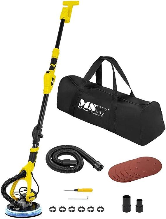 MSW MSW-DWS850WL Trockenbauschleifer 850 W mit LED-Licht und Staubfangbeutel 1.400-2.600 U//min Schleifteller /Ø 180 mm