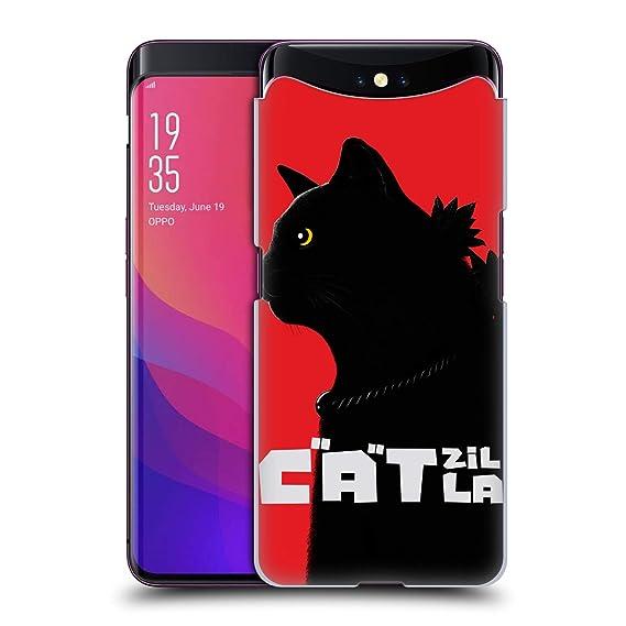 Amazon com: Official Tummeow Catzilla Cats 4 Hard Back Case