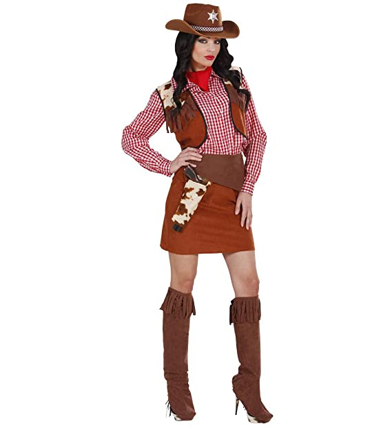 Costume Carnevale Donna Vestito Cowgirl PS 19810 Serie Cowboy Indiani   Amazon.it  Abbigliamento 25e0fb17bb8e