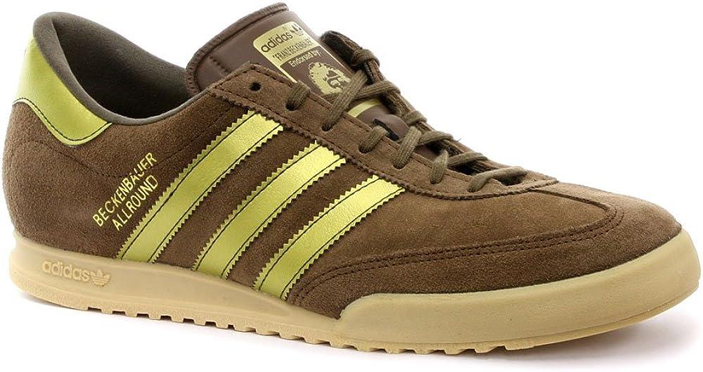 Amazon.com   adidas Trainers Shoes Mens Beckenbauer Brown ...