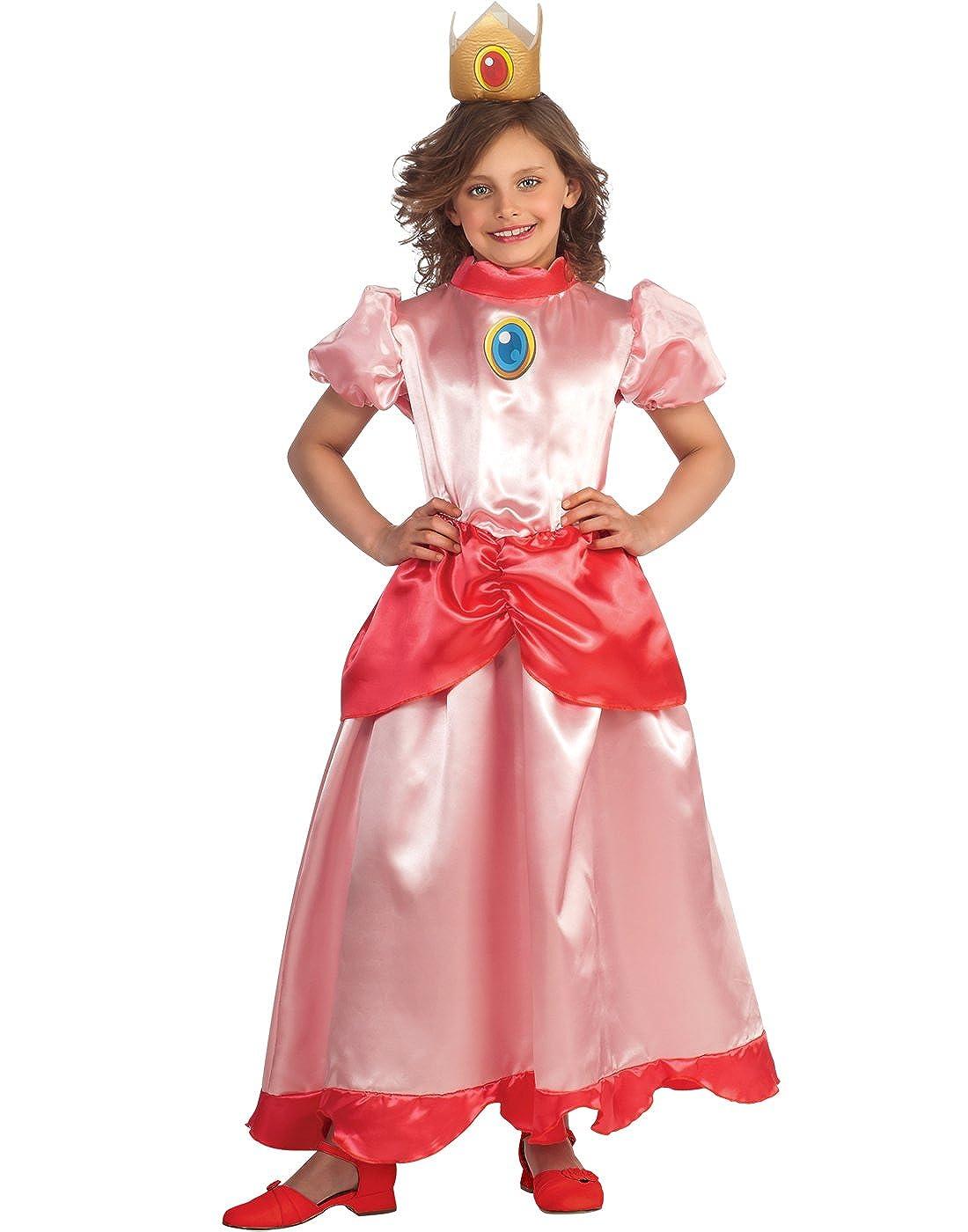 Disfraz Princesa Peach - Super Mario - niña: Amazon.es: Juguetes y ...