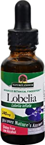 Nature's Answer Lobelia Herb with Organic Alcohol - 1 OZ - Homeopathic Tincture 3X - Lobelia inflata - Herbal Supplement - Gluten Free
