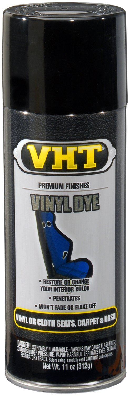 VHT (SP941-6 PK Gloss Jet Black Vinyl Dye - 11 oz. Aerosol, (Case of 6)