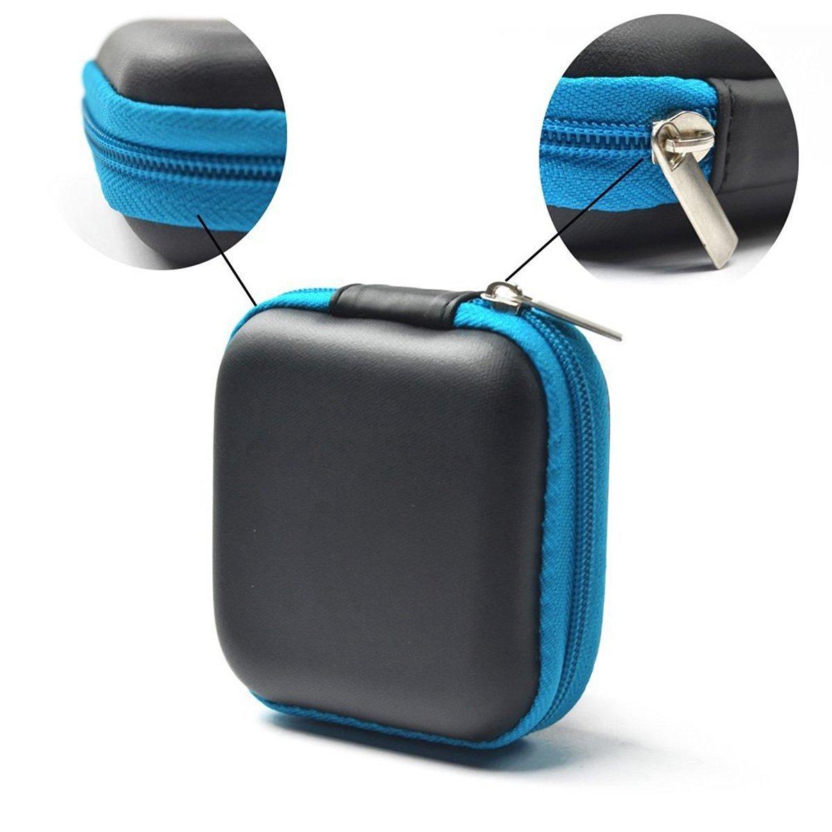 xel_uu.11 Square Portable Storage Bag Earphone Storage Box Anti-Pressure Coin Purse Earplugs Box