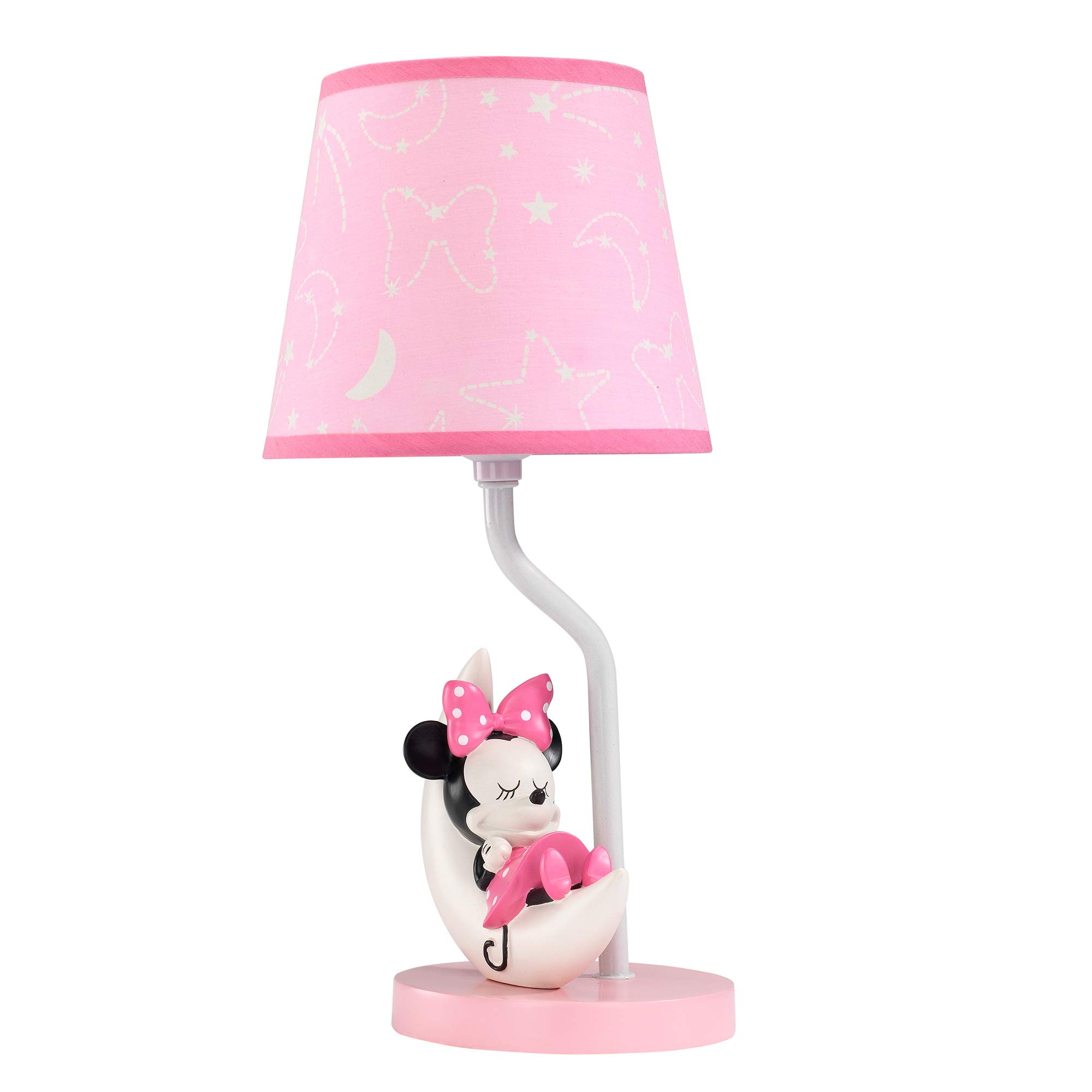Lambs & Ivy Disney Baby Minnie Mouse Celestial Lamp with Shade & Bulb, Pink