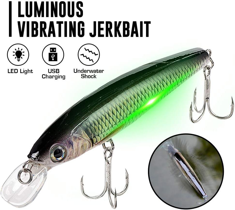 Luminous vibrating jerkbait
