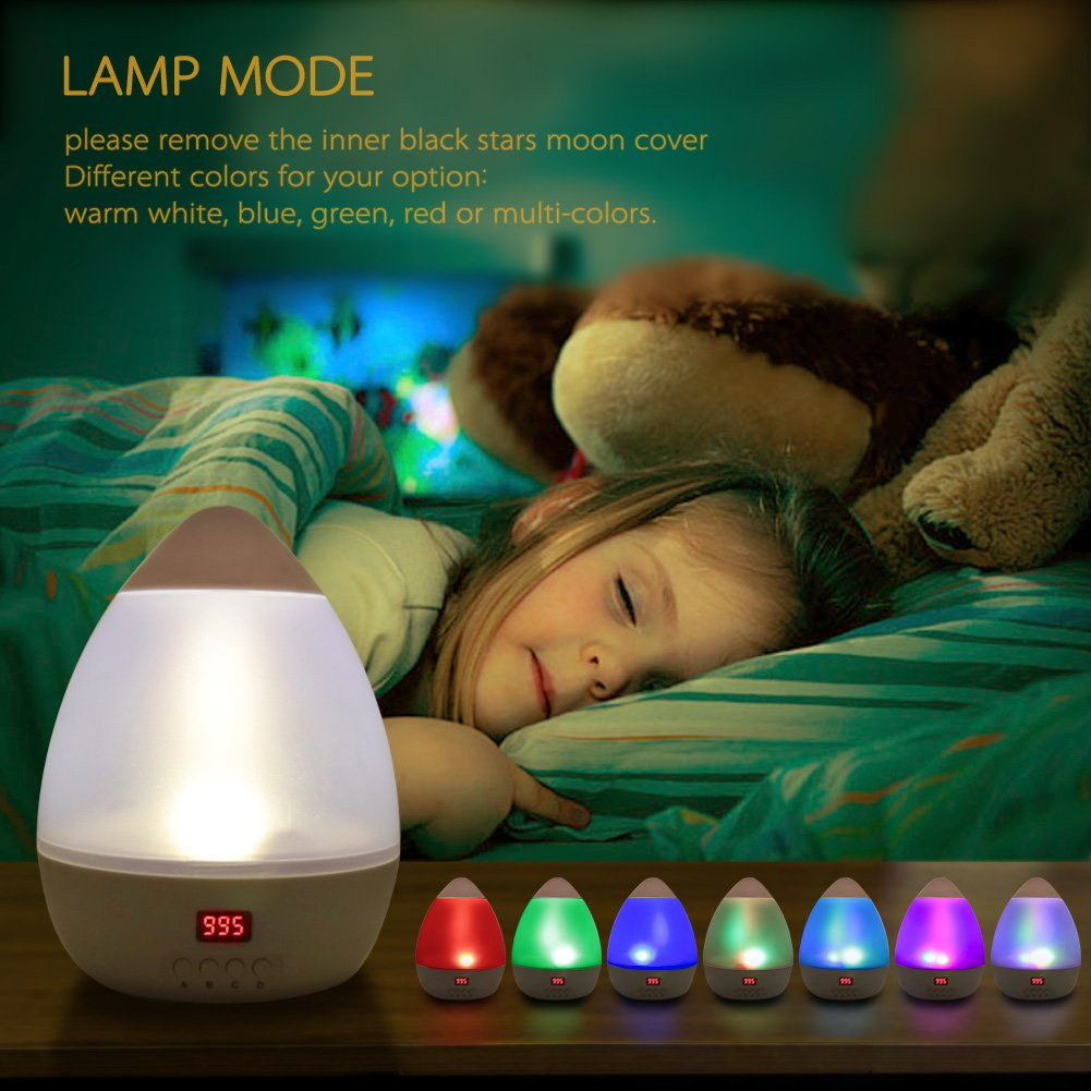 Star Sky Night Lamp,ANTEQI Baby Lights 360 Degree Romantic Room Rotating Cosmos Star Projector with LED Timer Auto-Shut Off for Kid Bedroom,Christmas Gift (White) by ANTEQI (Image #6)