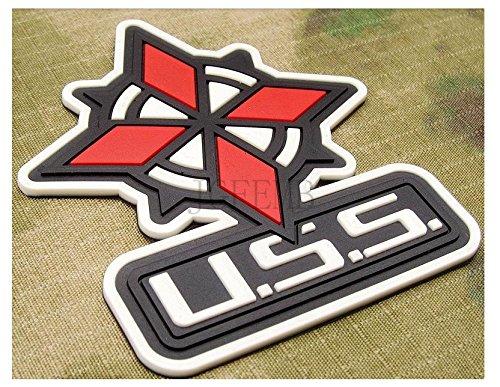 Luminous Biohazard Resident Evil Umbrella Corporation USS PVC Velcro Patch Badges