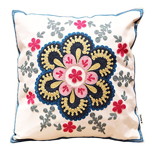 YouYee Hand Made National Embroidery Bohemian Housewarming Car Home Decoration Cushion Cover/Throw Pillow Cover