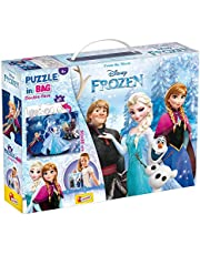 Lisciani 2-in-1 Disney Frozen Double Side Puzzle for Girls - 60 Pieces