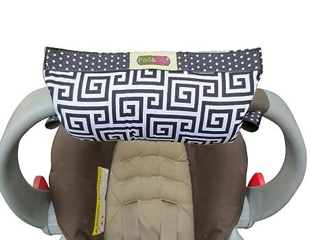 Padalily Coco Disco - Almohadilla para manillar de carrito para bebé, color rosa