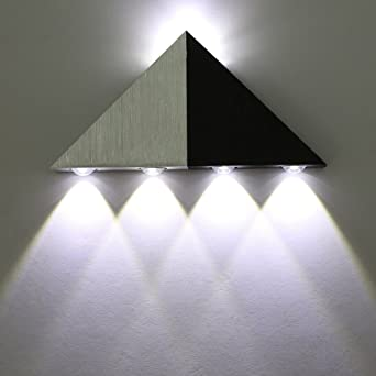 Lightess Modern Wall Lights 5w Aluminium Triangle Up And Down Wall Light Interior Lighting Wall Downlighters Decoration For Bedroom Living Room Bar Hallway Porch 5w Cool White Amazon Co Uk Lighting