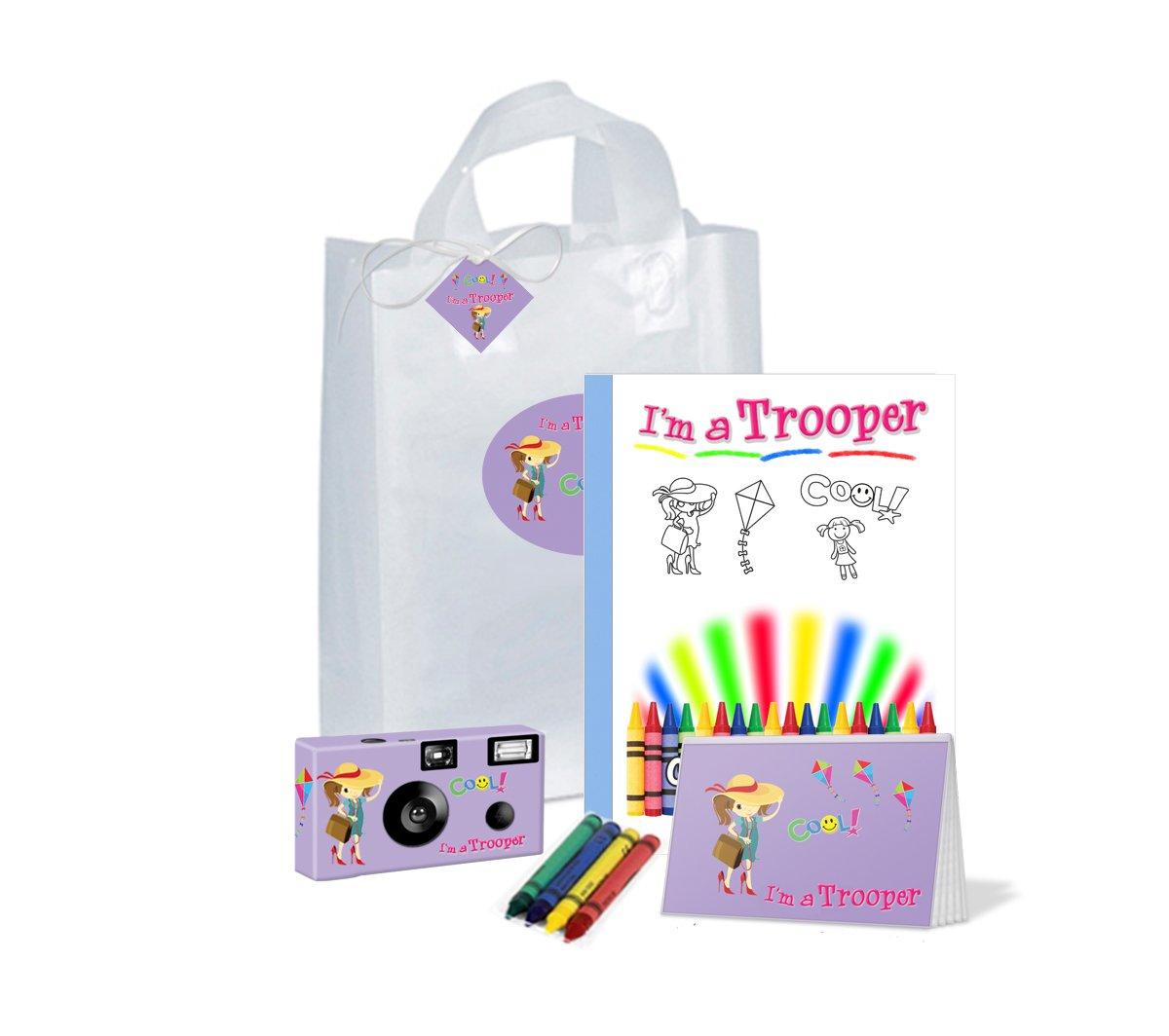 I ' m a Trooper Girl inラベンダーの贈り物bag-full goodies-camera、フォトアルバム、カラーリングブックand More、pkg101   B077BHLVNN