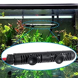 Zacro AH066 Submersible Aquarium Heater of 300W with Visible Temperature and Floating Thermometer with Suction Cup