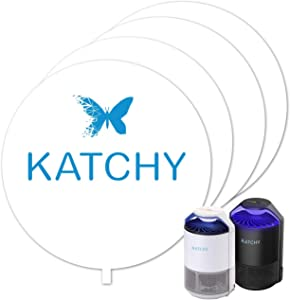 KATCHY Insect Trap 4-Pack of Refillable Glue Boards