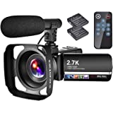 "Video Camera Camcorder with Microphone YouTube Camera Recorder 2.7K Ultra HD 20FPS 30.0MP 18X Digital Zoom 3.0"" LCD…"