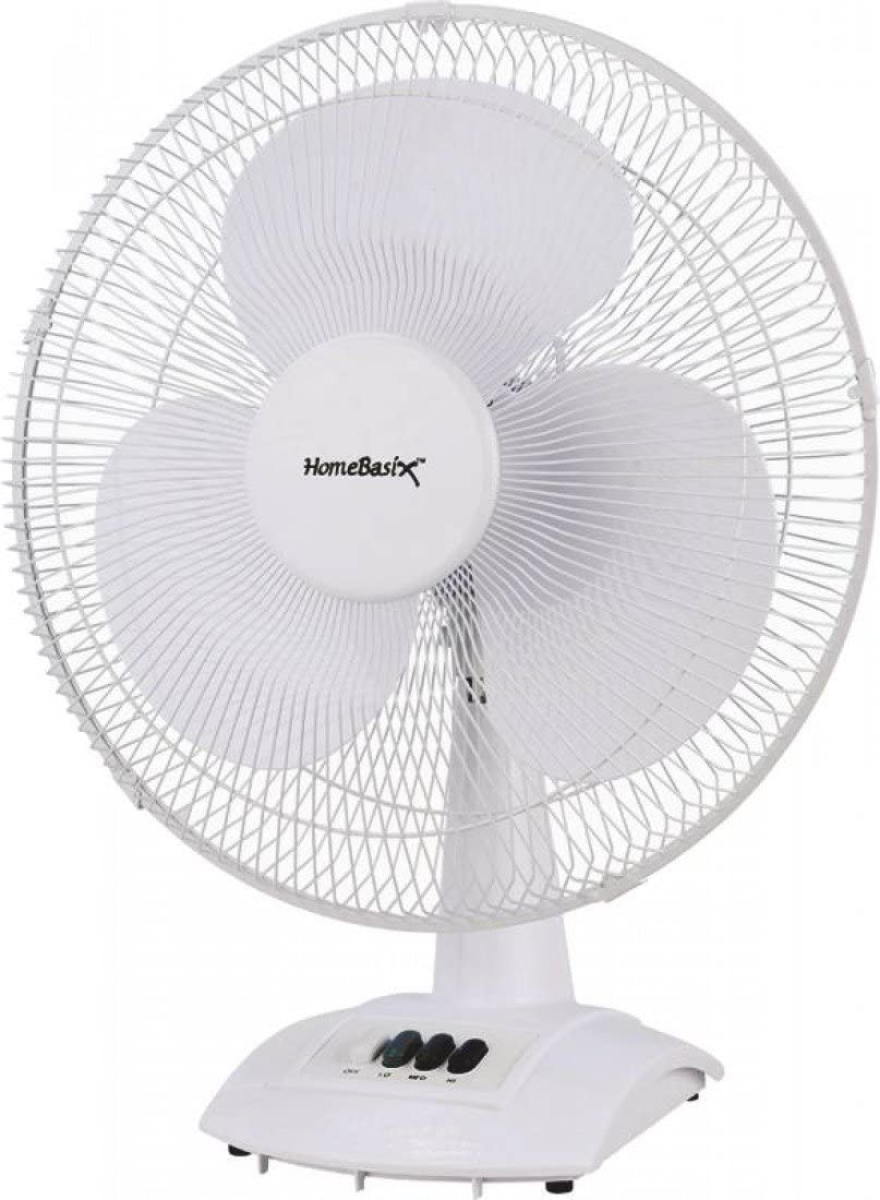 Homebasix Ft40-8Hc Oscillating Table Fan, White