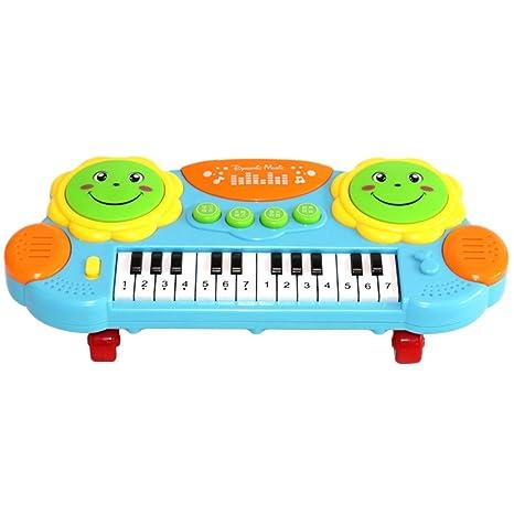 YeahiBaby Bebé Niños Teclado Piano Desarrollo Educativo Temprano Instrumento de Música Juguete Teclado Multifuncional Piano con