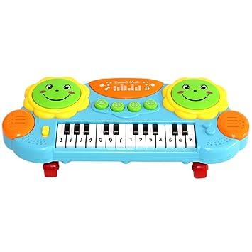 STOBOK - Teclado para Piano para bebé, diseño pedagógico, Instrumento Musical, Juguete Multifuncional, Piano con Azul Claro: Amazon.es: Juguetes y juegos