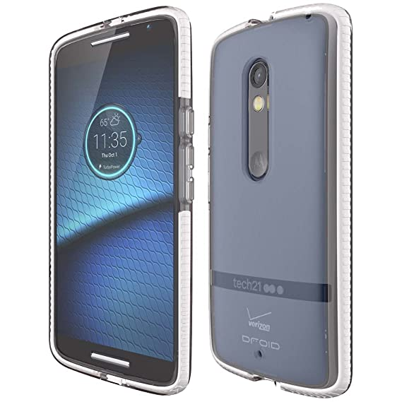 Motorola Droid Maxx 2 Clear Tech21 EVO Protective Shell Cover Case Retail Package