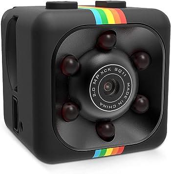 Sq11 Mini Videocámara Full Hd 1080p 2mp Detección De Monitor Visión Nocturna Infrarroja Tarjeta Tf Cámara Grabadora Deportiva Con Soporte Cámara Espía Oculta Mini Dv Para Seguridad Doméstica Negro Camera