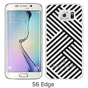 Unique Designed Kate Spade Cover Case For Samsung Galaxy S6 Edge White Phone Case 106