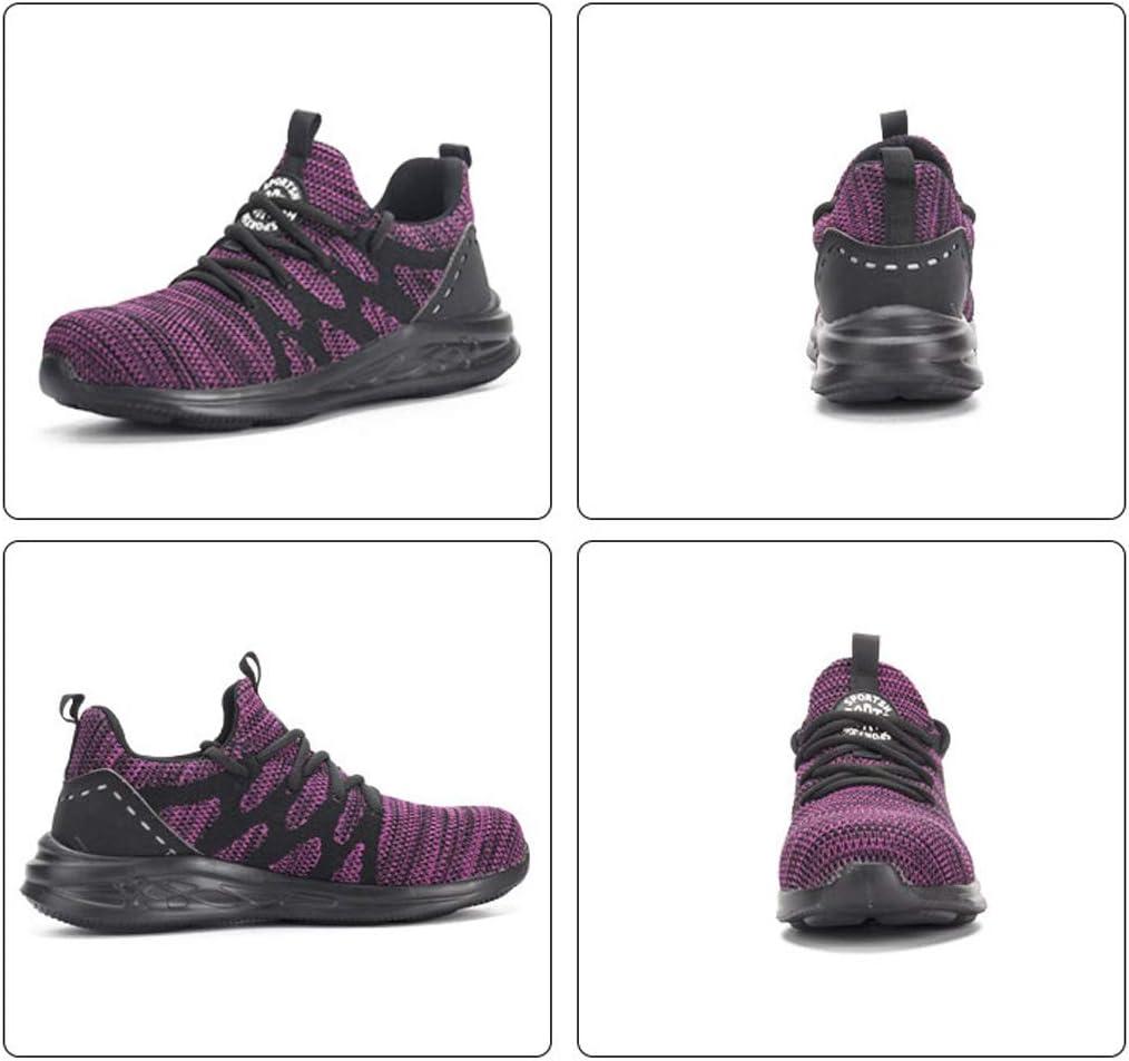 JIEFU Sicherheitsschuhe Herren Fitness Laufschuhe Atmungsaktiv rutschfeste Mode Sneaker Sportschuhe Arbeitsschuhe