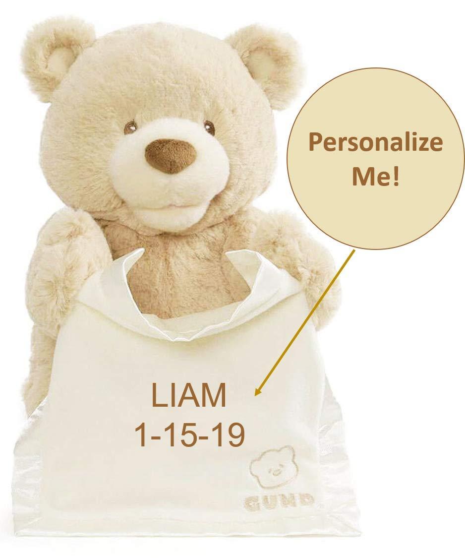 Personalized Baby Animated Peek-a-Boo Plush Teddy Bear Stuffed Animal for Keepsake Gift by GUND