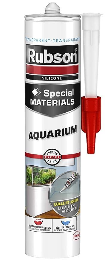 Rubson Verre Aquarium - Pegamento sellante para vidrio (especial para acuarios, 280 ml)