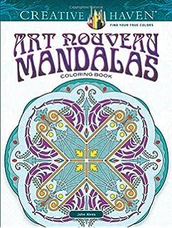Creative Haven Art Nouveau Mandalas Coloring Book Adult
