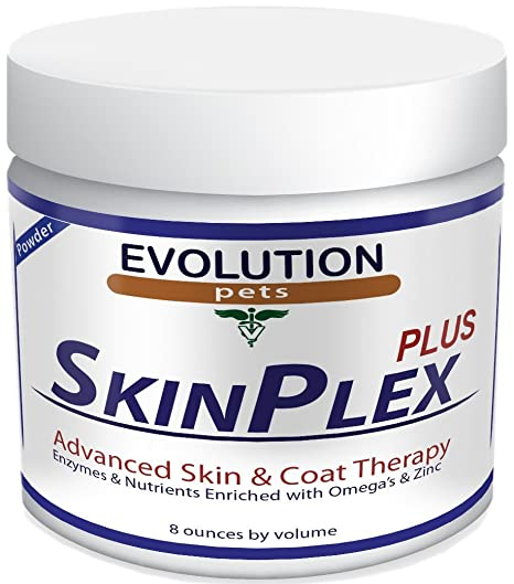 Evolution Pets and Best Digestive Enzymes for Dogs! SkinPlex Plus is  Guaranteed to help end Dog Skin Allergies, Dog Skin Problems, Itchy Dogs  Dog Dry