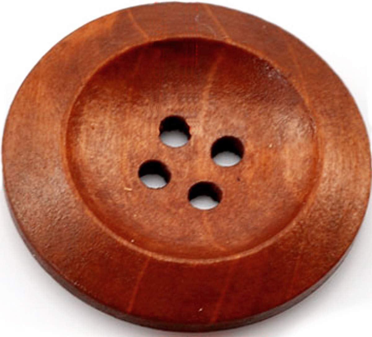 15 pezzi eleganti bottoni in legno 30 mm 4 fori rotondo marrone bottone da cucire marrone scuro bottoni in legno bottoni fai da te bottoni decorativi Bottoni giacca scrapbooking